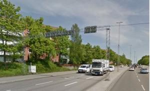 Birkakorset, Södertälje. Mätning i gaturum av partiklar (PM10) och kväveoxider (NO2, NOx). Södertälje kommun.